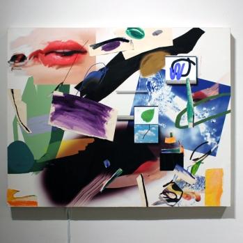 "Plur Piece II year:2012 medium: digital video, acrylic paint on giclee print size: 60""x48"""
