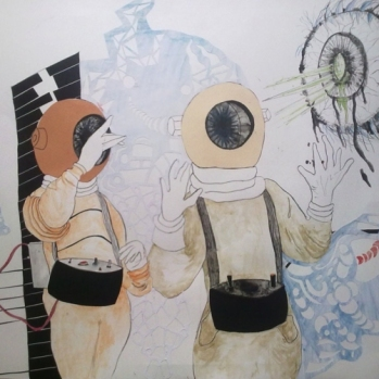 astronauts by marina velisioti-